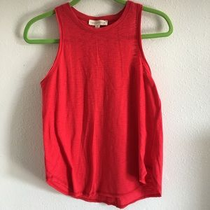 Lovestitch red tank high low in a size M